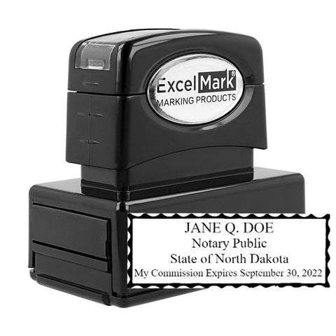 Pre-Inked North Dakota Notary Stamp