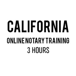 California Online Notary Training (3 Hours)