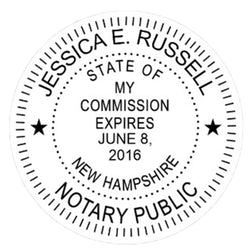 New Hampshire Notary Embosser Die Plate