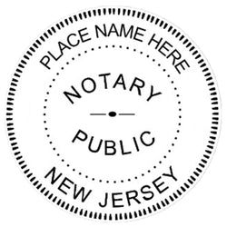 New Jersey Notary Embosser Die Plate