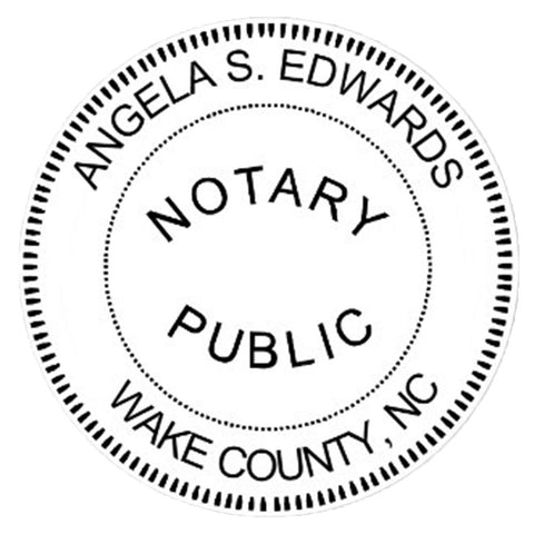 North Carolina Notary Embosser Die Plate