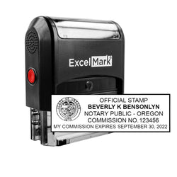 Oregon Notary Stamp - Self-Inking