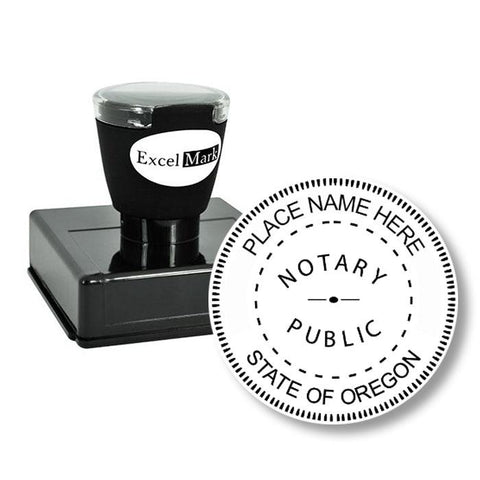 Round Pre-Inked Oregon Notary Stamp