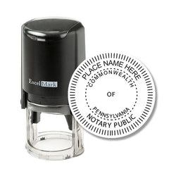 Round Self-Inking Pennsylvania Notary Stamp