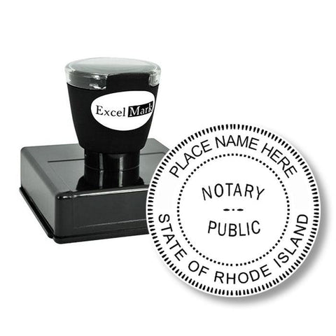 Round Pre-Inked Rhode Island Notary Stamp