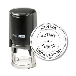 Round Self-Inking South Carolina Notary Stamp