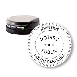Round Slim South Carolina Notary Stamp