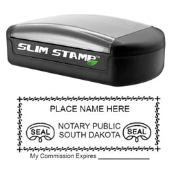 Slim South Dakota Notary Stamp