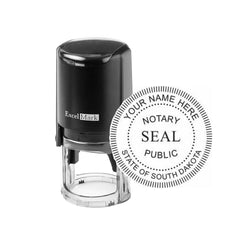 Round Self-Inking South Dakota Notary Stamp
