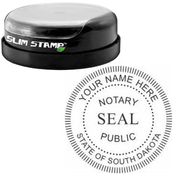 Round Slim South Dakota Notary Stamp