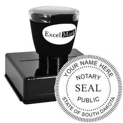Round Pre-Inked South Dakota Notary Stamp