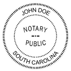 South Carolina Notary Embosser Die Plate