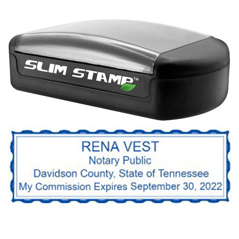 Slim Tennessee Notary Stamp