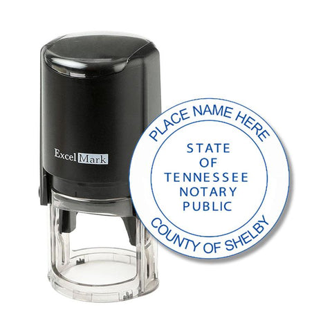 Round Self-Inking Tennessee Notary Stamp