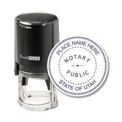 Round Self-Inking Utah Notary Stamp