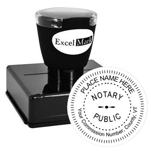 Round Pre-Inked Vermont Notary Stamp