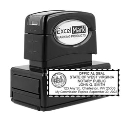 Pre-Inked West Virginia Notary Stamp