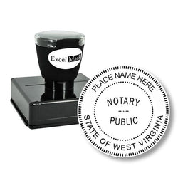 Round Pre-Inked West Virginia Notary Stamp