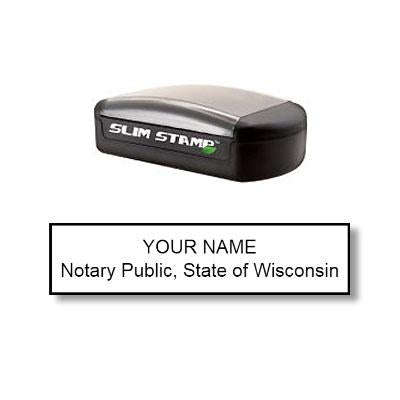 Slim Wisconsin Notary Stamp
