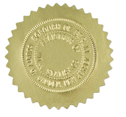 Gold Foil Seals - Box of 40