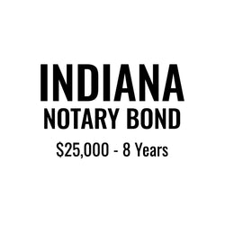 Indiana Notary Bond ($25,000, 8 years)
