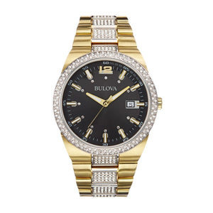 Bulova Goldtone Stainless Steel Men's Water-resistant Calendar Date Watch | Overstock.com Shopping - The Best Deals on Bulova Men's Watches