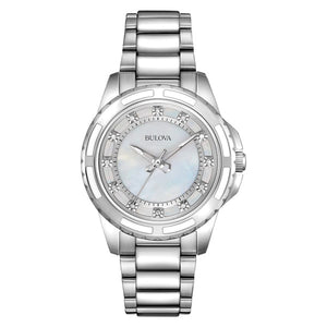 Bulova Women's 96P144 Silver Stainless Steel Water-resistant Watch | Overstock.com Shopping - The Best Deals on Bulova Women's Watches