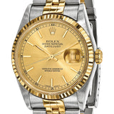 Certified Pre-owned Rolex Mens 18k Yellow Gold and Steel Champagne Dial Watch | Overstock.com Shopping - The Best Deals on Pre-Owned Rolex Men's Watches
