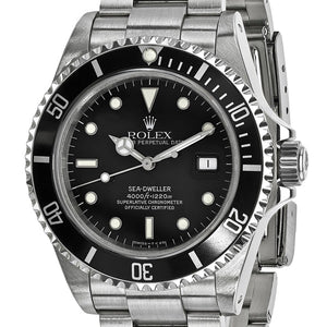 Certified Pre-Owned Rolex Men's Stainless Steel Sea Dweller Black Watch | Overstock.com Shopping - The Best Deals on Pre-Owned Rolex Men's Watches