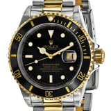 Certified Pre-Owned Rolex Men's Steel and 18 Karat Yellow Gold Submariner Black Dial Watch | Overstock.com Shopping - The Best Deals on Pre-Owned Rolex Men's Watches