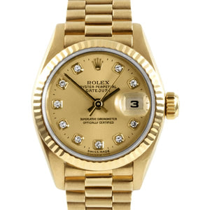 Pre-owned Rolex 18k Gold President Women's Watch | Overstock.com Shopping - The Best Deals on Pre-Owned Rolex Women's Watches