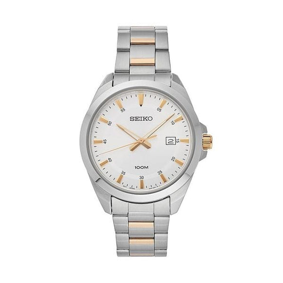 Seiko Men's SUR211 Silver Dial Stainless Steel Watch with Date | Overstock.com Shopping - The Best Deals on Seiko Men's Watches