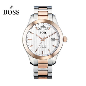 BOSS Germany watches men luxury brand daydate Chopin series strip automatic mechanical curved week black relogio masculino
