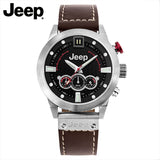 Jeep Original Men Watch Quartz Multifunctional Chronograph Leather Band Water Resistant Watch Luminous Men's Watch JP15401