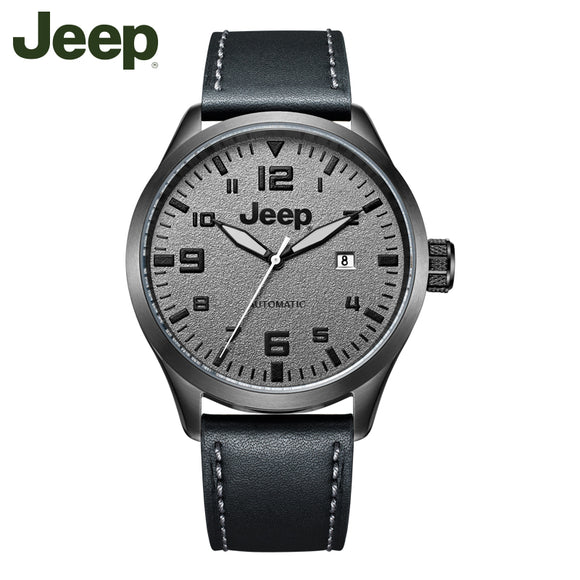 Jeep Original Watches Casual Fashion Simple Leather Band Luminous Mechanical Watches JPW66002