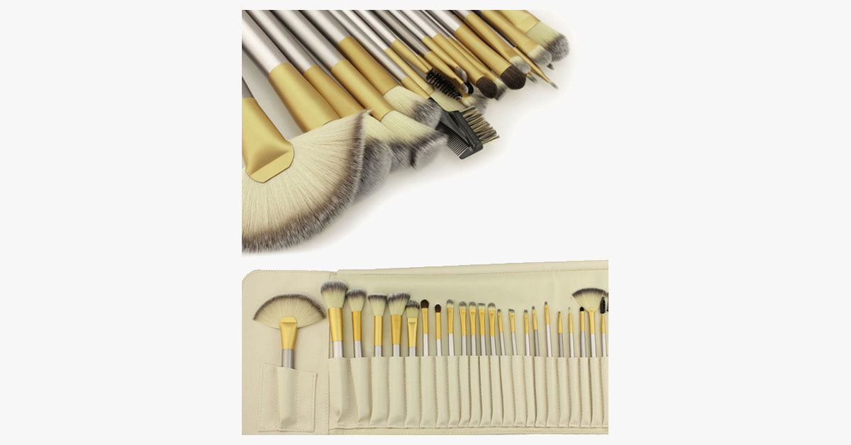 Crushed Mocha 24 Piece Brush Set - FREE SHIP DEALS