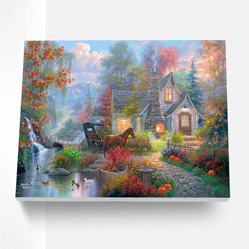 Paint By Numbers Kit - Fairytale Cottage