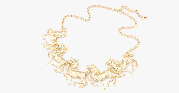 Horse Statement Necklace - FREE SHIP DEALS