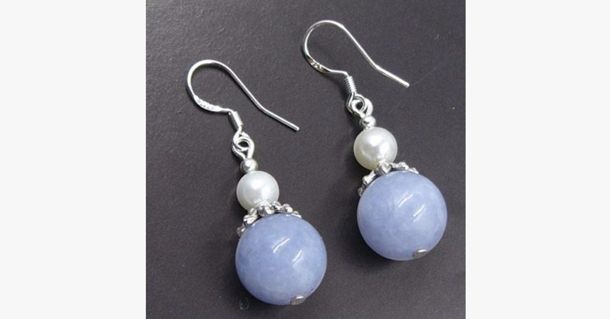 Aquamarine Pearl Drop Earring - FREE SHIP DEALS