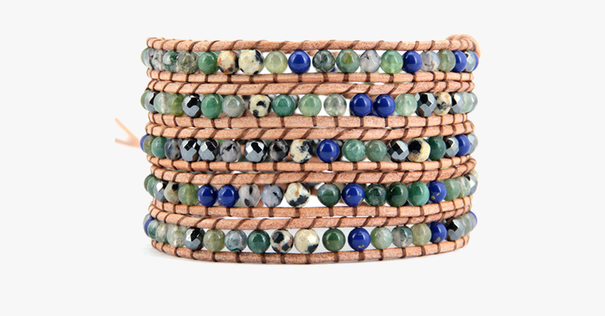 Long Beach Stone Wrap Bracelet - FREE SHIP DEALS