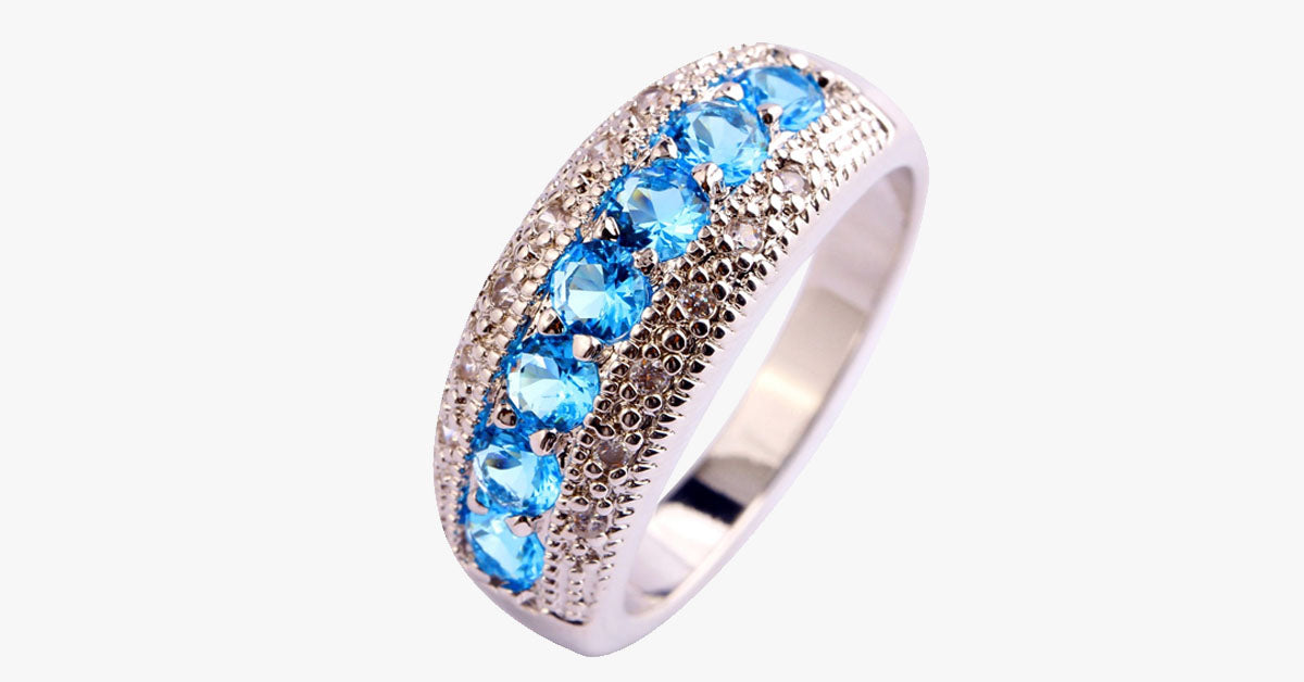 lyst diamond in aqua aquamarine nicholas sapphire ring normal product varney jewelry and blue sugarloaf