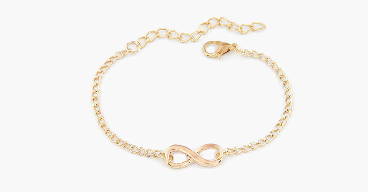 Infinity Charm Bracelet - Available in Three Colors!