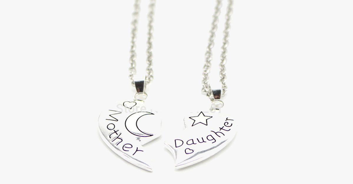 Moon and Back Daughter Necklace - FREE SHIP DEALS