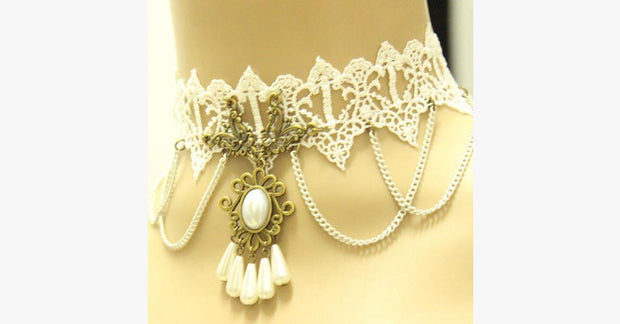 White Pearl Choker - FREE SHIP DEALS