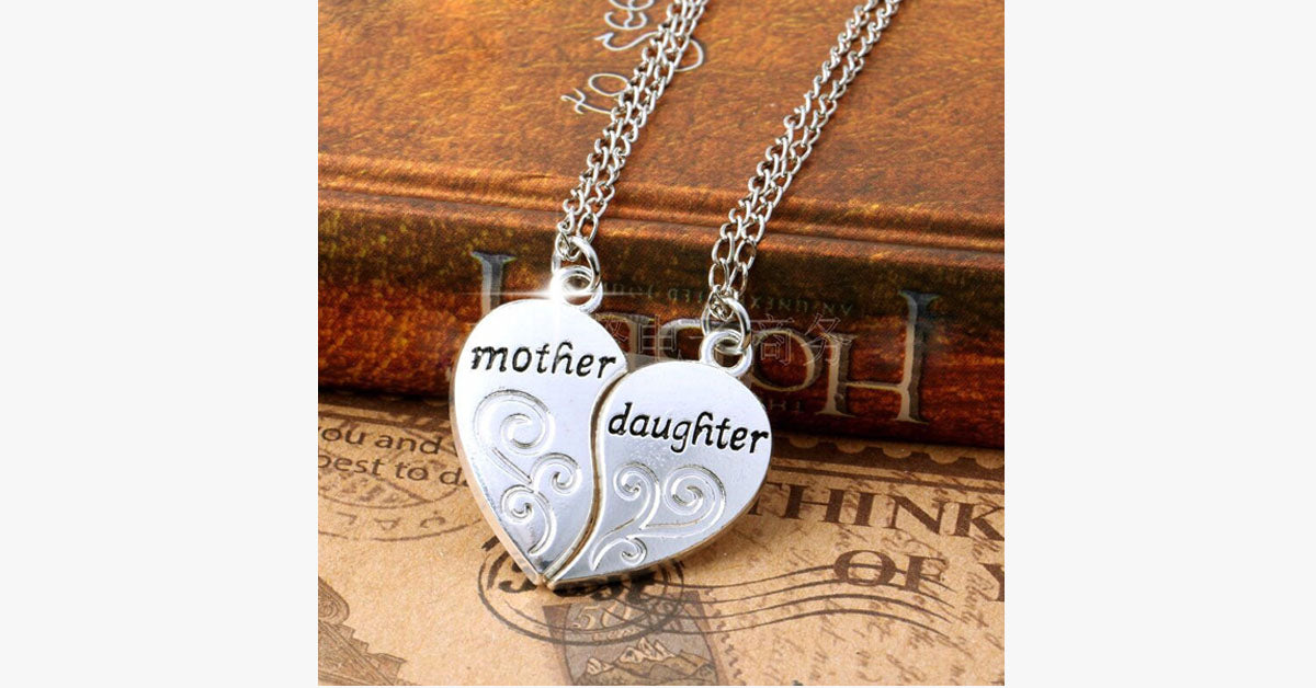 Mother & Daughter Pendant Necklace - FREE SHIP DEALS