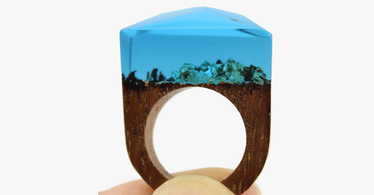 Ocean Oasis Wood Ring - FREE SHIP DEALS