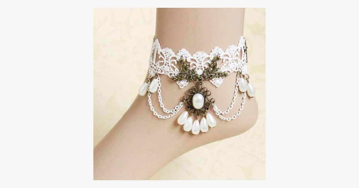 White Pearl Anklet - FREE SHIP DEALS