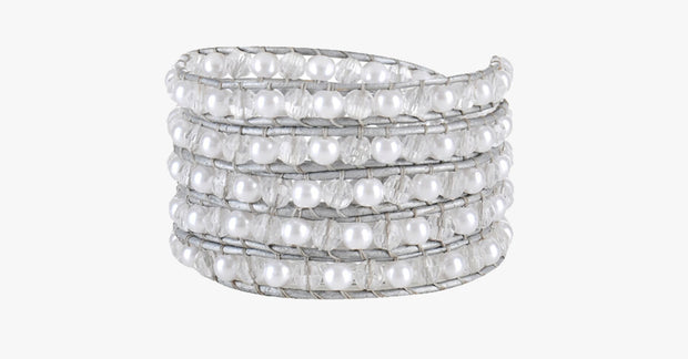 White Ivory Wrap Bracelet - FREE SHIP DEALS
