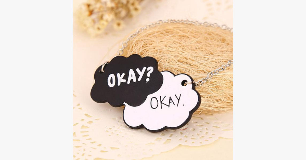 Okay Okay Tag Necklace - FREE SHIP DEALS