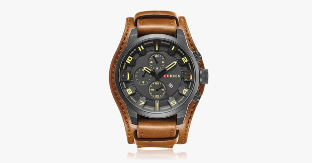 Leather Strap Desert Watch - FREE SHIP DEALS